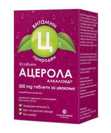 Acerola Alkaloid 500mg chewable tablets