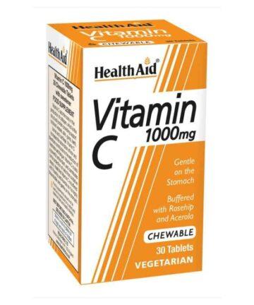 Health Aid Vitamin C 1000mg chewable tablets