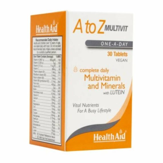 Health Aid A-Z multivit tablets