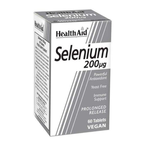 Health Aid Selenium 200mcg tablets