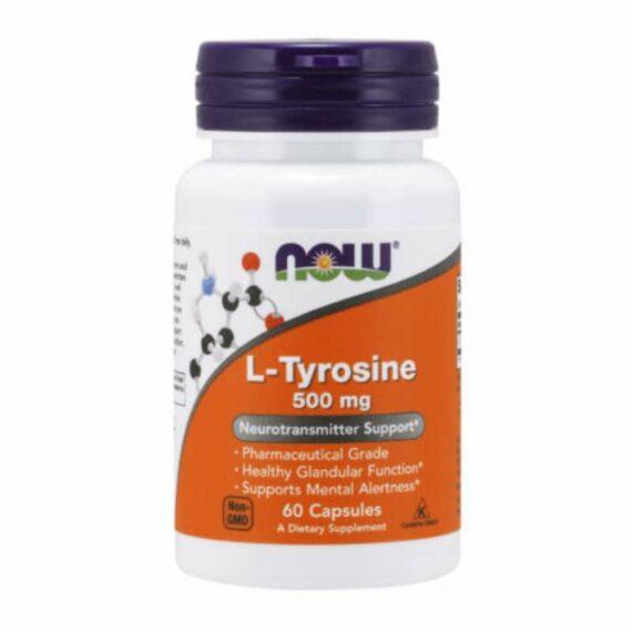 NOW L-Thyrosine capsules