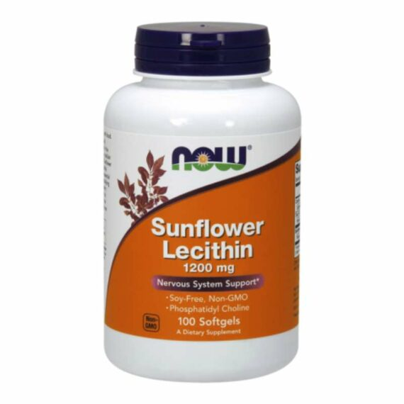 NOW Sunflower Lecithin 1200mg capsules