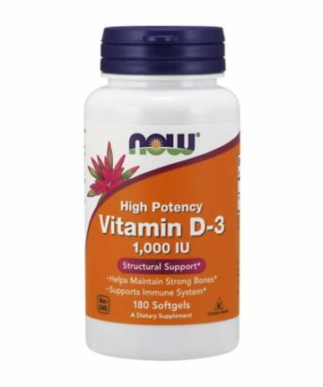 NOW Vitamin D3 1000IU softgels