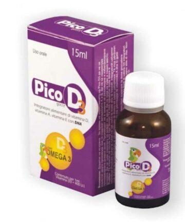 Pico D3 con Omega 3 drops